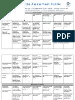 12 maths assessment rubric sem2 2012