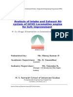 Analysis of Intake and Exhaust Air System of GEVO for Bsfc Reduction