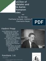 Writing 39 Vladimir Propp and Aarne-Thomspon Index