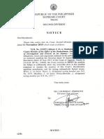 Notice Second Division Nov 11 2015
