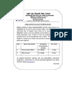 Notification NIOS SEO and Office Asst Posts