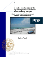Impact on the coastal areas of the Tanjung Tokong Land Reclamation Project, Penang, Malaysia