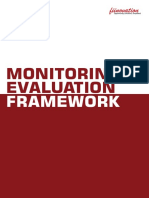 Monitoring & Evaluation Framework - Fiinovation