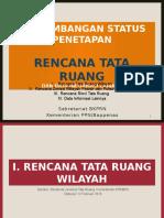 Perkembangan Status Penetapan Rencana Tata Ruang dan Data Informasi Lainnya [120216]