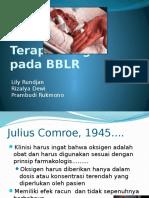 Terapi Oksigen Pada BBLR SINAS Balikpapan 22-5-2012