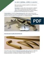 Barniz efecto oro | plata, cobre o acero