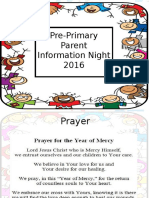 pre-primary info meeting 2016 - copy