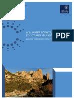 Msc Wspm Handbook14