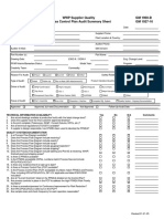 GP-9 Process Control Plan Audit Summary Sheet