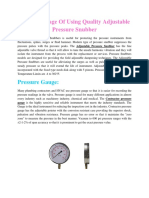 The Advantage Of Using Quality Adjustable Pressure Snubber