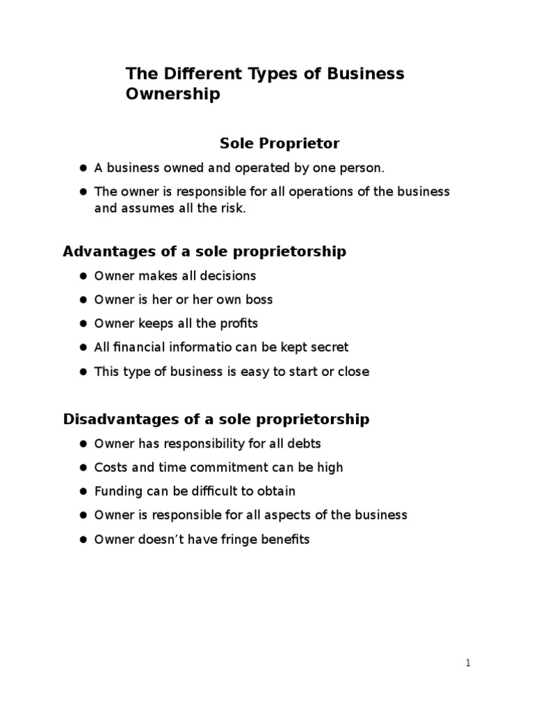 the different types of business ownership0 pdf scribd the different types of business ownership0 pdf scribd com