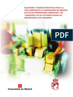 Guía de Recomendaciones y Buenas Prácticas, para la Coordinación en la Prevención de Riegos Laborales del Sector de Operadores Logísticos y de Transportes que desarrollan su actividad diaria en Instalaciones Compartidas o de terceros