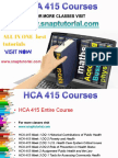 HCA 415 Academic Success/snaptutorial