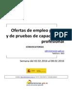 Boletin_Convocatorias_Empleo 2 a 8 de Febrero de 2016