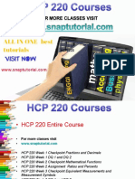 HCP 220 Academic Success/snaptutorial