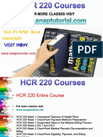 HCR 220 Academic Success/snaptutorial