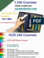 HCR 240 Academic Success/snaptutorial