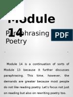 Module 14 Paraphrasing Poetry