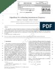 Algorithms for Inst Freq Estimation
