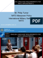 01. English Language Requirements for NATO Appointments - Turner (NATO)