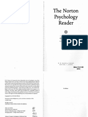 The Norton Psychology Reader by Gary Marcus (Editor) | Unconscious