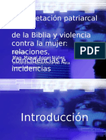 Interpretacion Patriarcal de La Biblia y Violencia Intrafamiliar