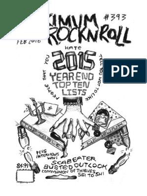 Maximumrocknroll February 2016 Anarchy