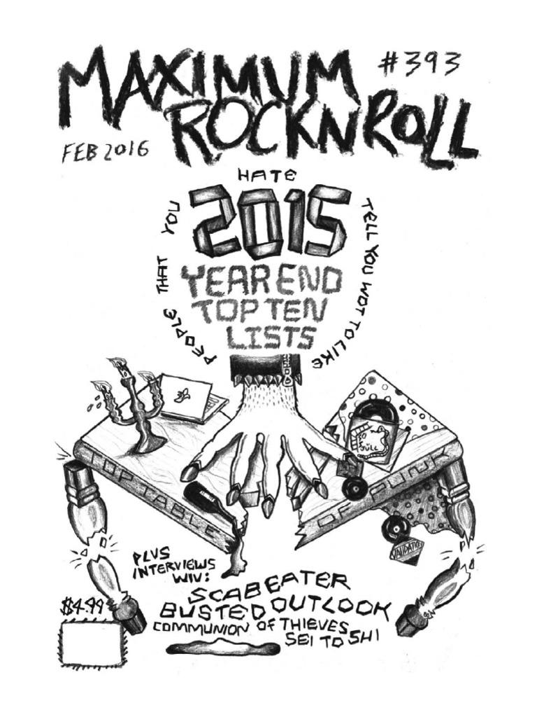 maximumrocknroll february 2016 anarchy anarchism 2012 RAV4 Grey