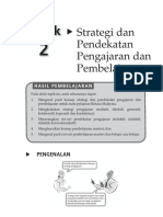Topik 2 - Strategi Dan Pendekatan Pengajaran Dan Pembelajaran