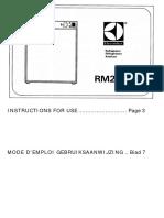 Electrolux Rm 212 caravan fridge