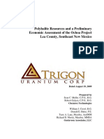 Trigon Ochoa 43-101 PEA a-opt