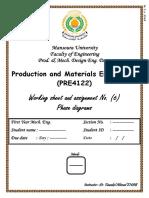 PRE4122 Exercise No. 6 Phase Diagrams