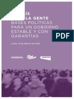 Propuesta Gobierno Cambio de Podemos
