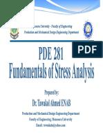 Fundamentals of Stress Analysis - Lec 04