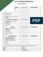 Check List - Arnés de Seguridad (TPM.2016)