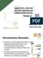 Cuidados en el uso de herramientas manuales  y posturas en el trabajo.ppt