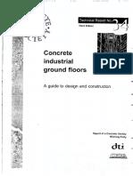 Concrete industrial ground floors