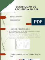 Estabilidad de Frecuencia en SEP