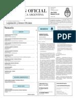 Boletín Oficial de la República Argentina, Número 33.316. 15 de febrero de 2016