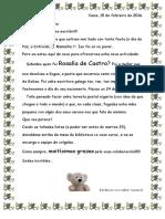 Rosalía 16. Carta Titorías.