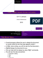 Lecture Latex Short