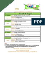 Ementa Berçário 15 a 19-02-2016