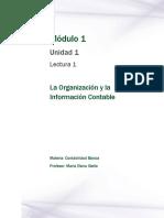 Lectura 1 - La Organización y La Información Contable