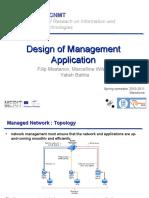 Design of Management Application