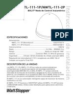 NWTL 111 Installation Instructions Spanish