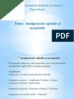 Analgezicele Opioide Și Neopioide