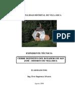 Expediente Cierre Planta RR.ss. Villa Rica