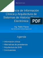 persistencia de informacion cilnica yarquitecturadesistemasdehistoriaclnicaelectrnica-120428164044-phpapp02