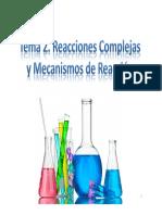 Tema 2. Mecanismos de Reaccion