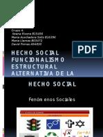FUNCIONALISMO ESTRUCTURALISMO